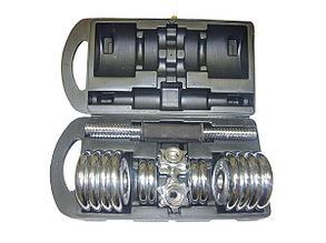 Гантели в кейсе набора 10+10 кг, фото 2
