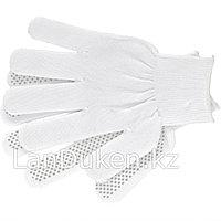 Перчатки нейлон ПВХ точка 13 класс белые L 67825 (002)
