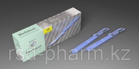 Скальпель с защитным колпачком из углеродистой стали, одноразовый стерильный, фото 2