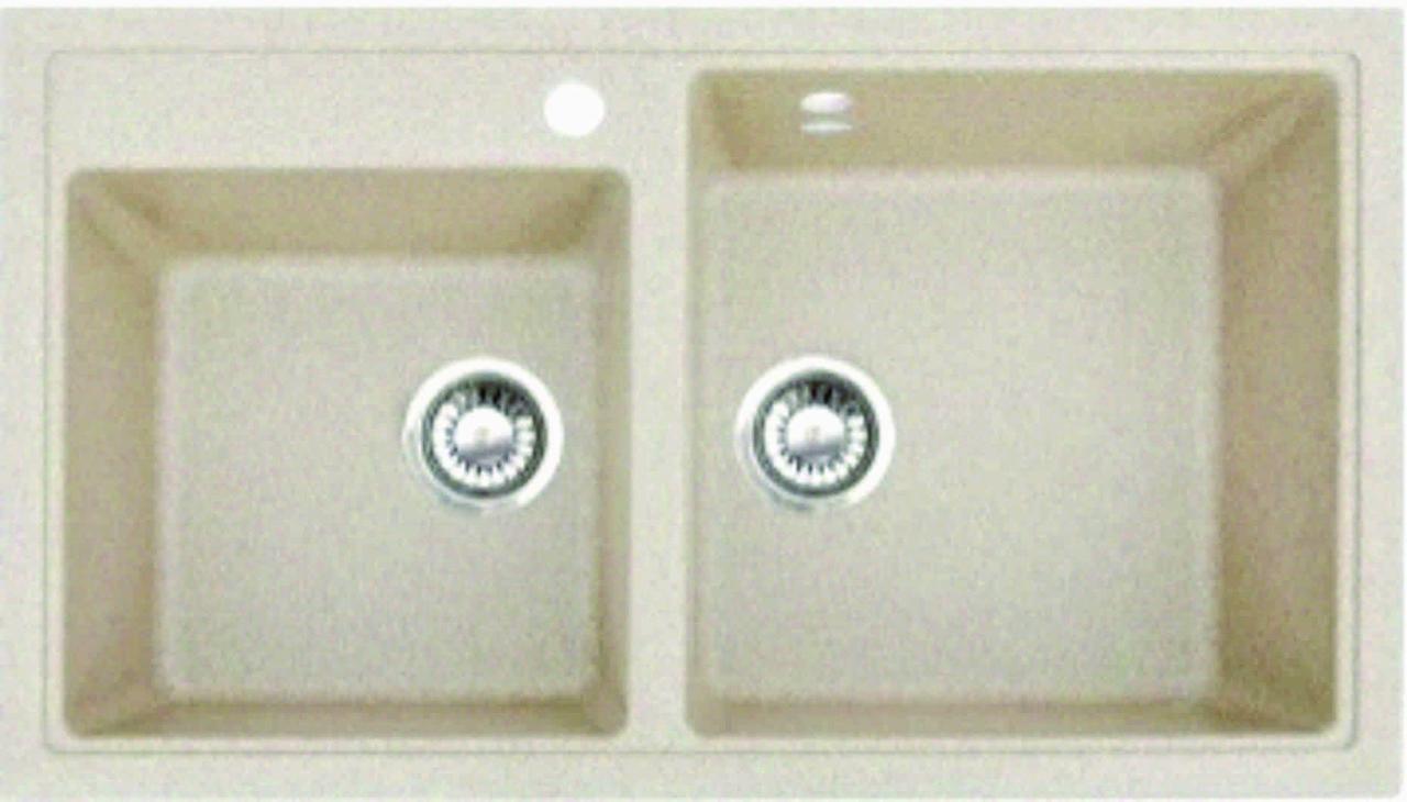 Кухонная мойка из искусственного камня Gran-Stone GS-85K цвет в ассортименте ( 850х490мм)