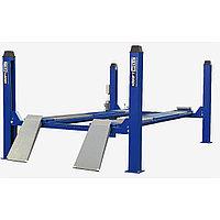 Подъемник четырехстоечный г/п 5500 кг. платформы для сход-развала KraftWell (КНР) арт. KRW5.5WA_blue, фото 1