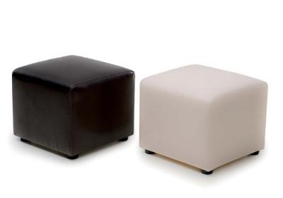 Пуфики для магазина кожаные в квадратном дизайне производство Турция
