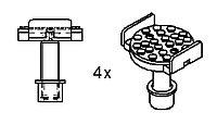 Упоры для рамных авто 4 шт. Ravaglioli (Италия) арт. S370A16
