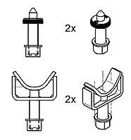Упоры для Mercedes Sprinter, VW LT+Crafter, 4 шт. Ravaglioli (Италия) арт. S370A14