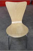 Стул круглый дизайн хайтэк деревянный цвет клен с хром ножками производство Турция