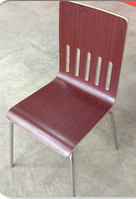 Стул хайтэк дизайн, цвет махагон,деревянный с хром ножками производство Турция