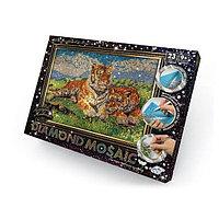 """Алмазная мозаика Diamond Mosaic """"Тигры"""", квадратные элементы, фото 1"""