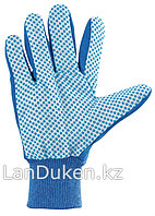 Перчатки рабочие х/б ткань с ПВХ точкой манжет XL СИБРТЕХ 67764 (002)