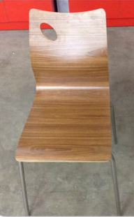 Стул хайтэк деревянный цвет ольха с хромированными ножками производсто Турция