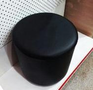 Пуфик размер 40*40 кожаный дизайн круглый цвет черный