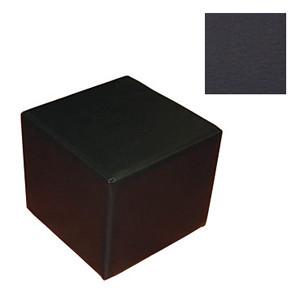 Пуфик размер 40*40 кожаный цвет черный