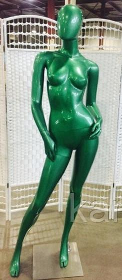 Манекен глянцевый янтарно-зеленый