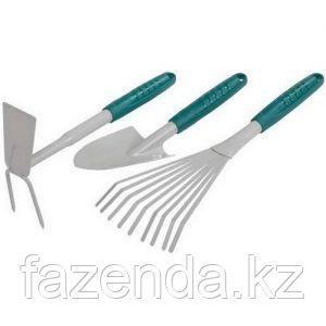Набор RACO садовый: совок, мотыжка, грабли веерные