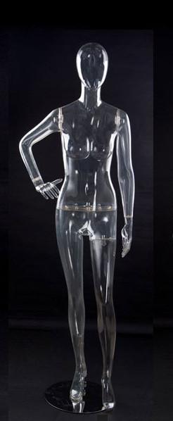 Манекен глянцевый прозрачный кристалл