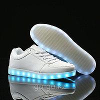 LED Кроссовки со светящейся подошвой, белые низкие, 35-41 39