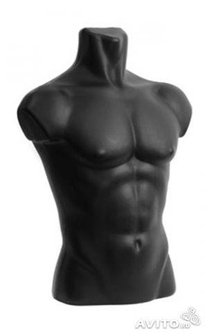 Манекен-бюст матовый черный