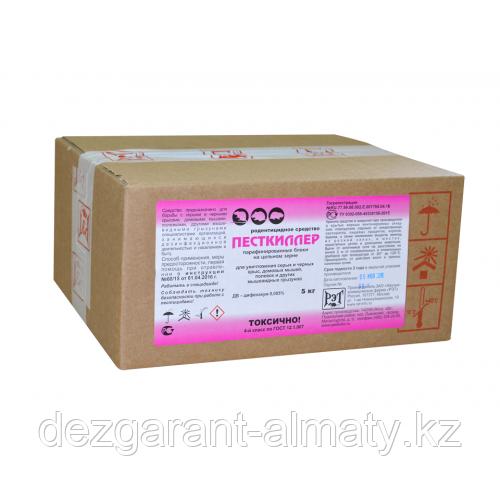 Песткиллер (парафин. брикеты коробка 5 кг). Средство от крыс и мышей
