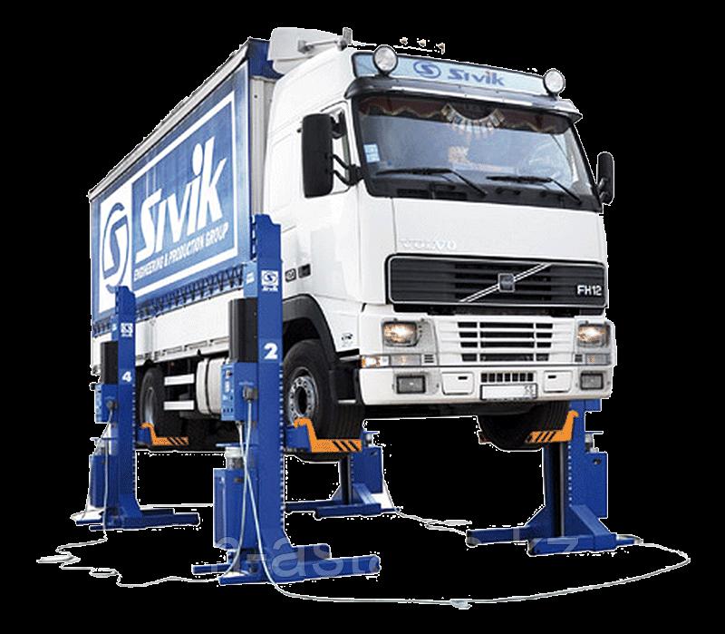 Четырехстоечный подъемник для грузовых автомобилей Sivik