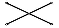 Связь диагональная, L = 2,5 m