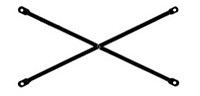 Связь диагональная, L = 2 m
