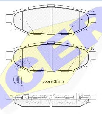 Тормозные колодки ICER 181759(REMSA 1136.01)
