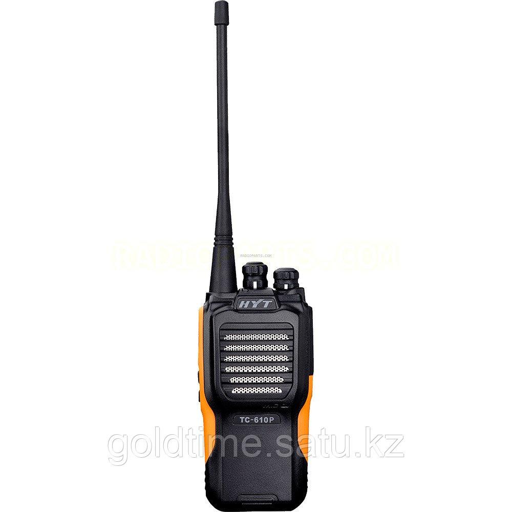 Радиостанция HYT TC-610 136-174МГц, IP66, 16 Кан., 5Вт, Li-Ion 1200мАч, антенна (146-174 МГц), ускоренное з/у