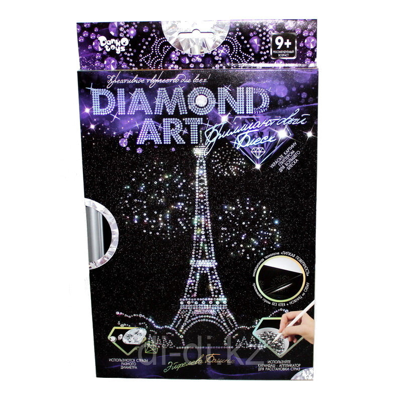 Алмазная мозаика Diamond Art - Эйфелева Башня