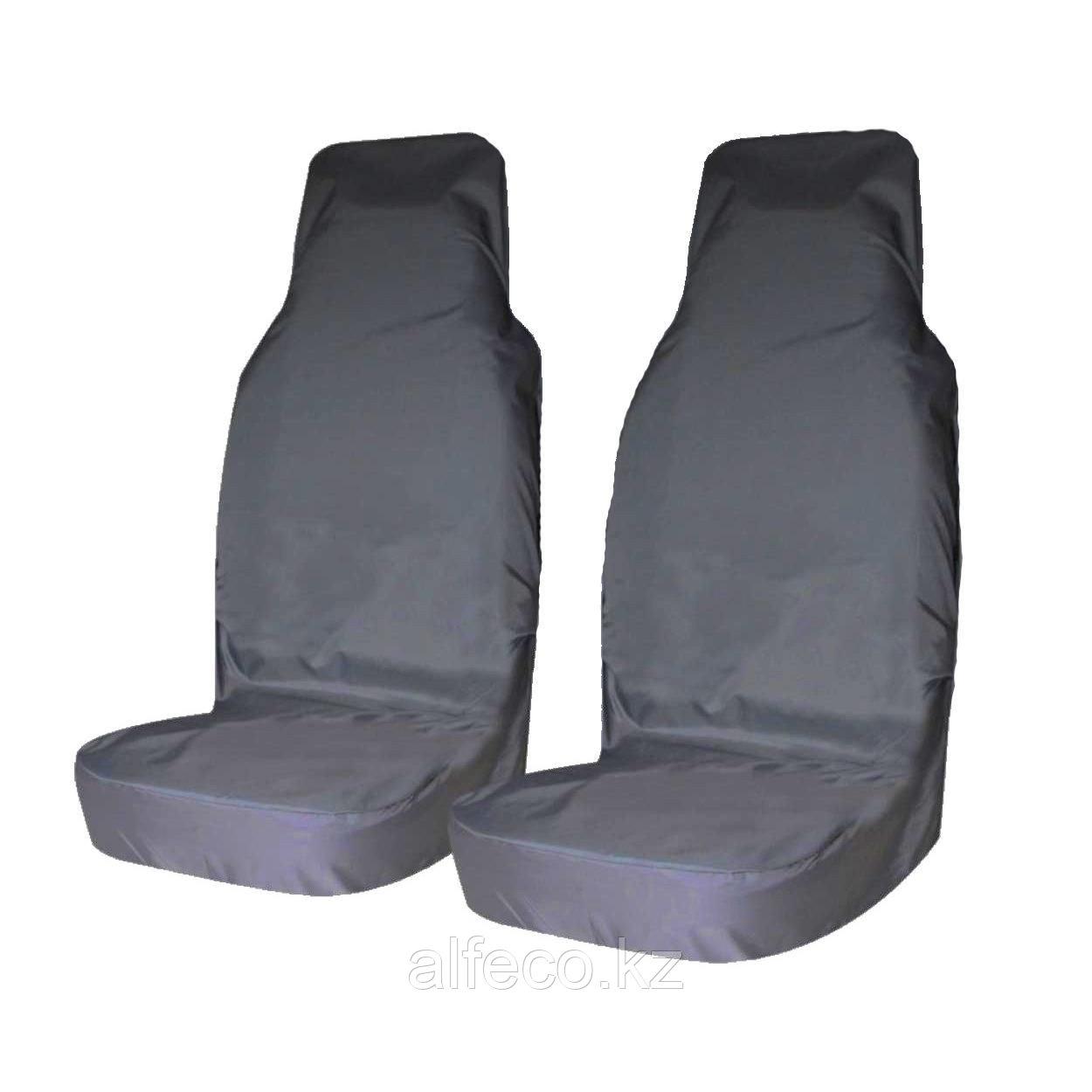 Комплект грязезащитных чехлов на передние сиденья 2 шт. (синие)