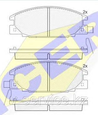 Тормозные колодки ICER 140853(REMSA 238.04)