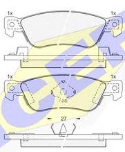 Тормозные колодки ICER 140855(REMSA 295.04)