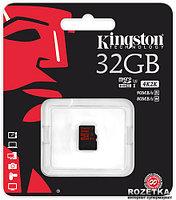 Карта памяти MicroSD 32GB Class 10 U3 Kingston SDCA3/32GBSP 90 MB/s.600x, фото 1