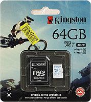 Карта памяти MicroSD 64GB Class 10 U3 Kingston SDCAC/64GB 90 MB/s, 600x, фото 1