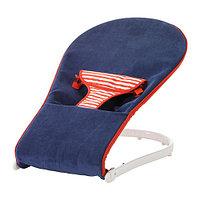 Переносное кресло для младенца ТОВИГ синий/красный ИКЕА, IKEA, фото 1