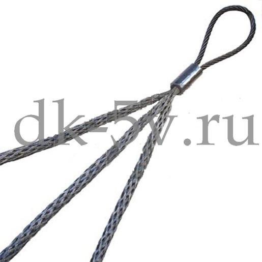 КЧ65/3, Тройной кабельный чулок для 3х кабелей, ⌀50-65мм, L=1250мм, 1 петля