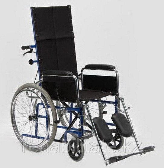 Кресло-коляска с высокой спинкой, сиденье-нейлон Н 008 (ширина 46
