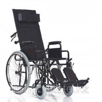 Кресло-коляска c удлинённой спинкой и поднимающимися подножками BASE 155, ширина сиденья 45.5 см