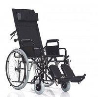 Кресло-коляска c удлинённой спинкой и поднимающимися подножками BASE 155, ширина сиденья 45.5 см , фото 1