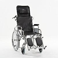Кресло-коляска с высокой спинкой сиденье -кож.зам. FS954GC-46.
