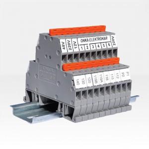 Клемма ONKA-1652 на Дин-рейку 4 мм2, 500B, 32A