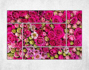 Модульная картина - Нежные розы