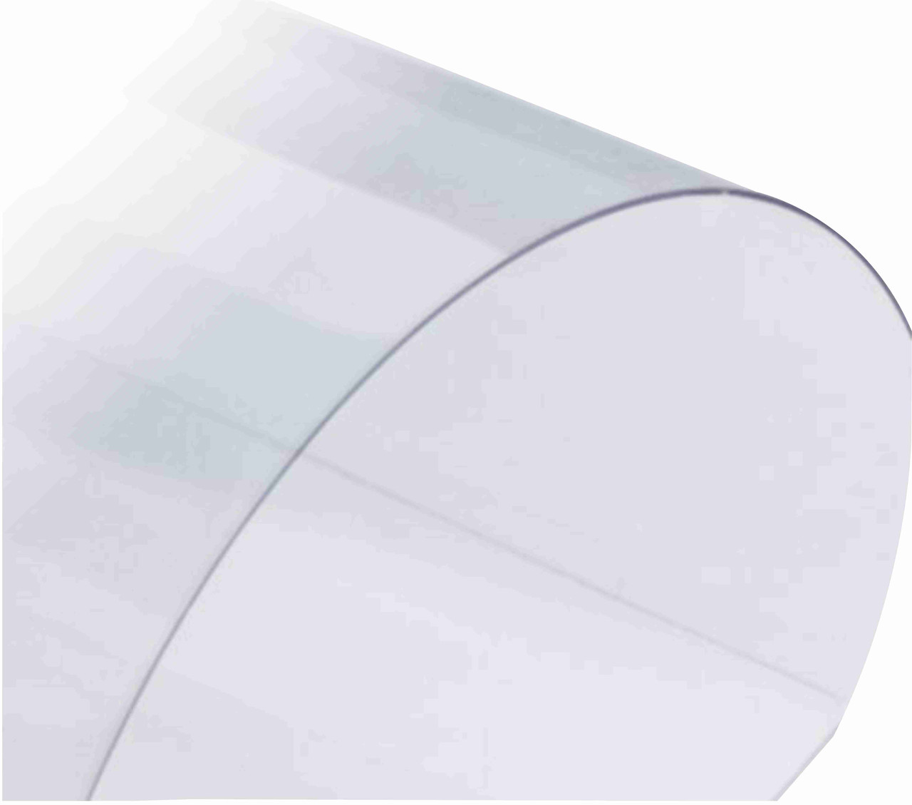 Прозрачный, жесткий листовой PVC пластик (0,35 мм) 1,22м х2,44м