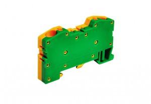 Клемма пружинная сеч. 4,0 мм2 сериии OPK для заземления на DIN-рейку