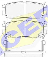 Тормозные колодки ICER 140980(REMSA 405.02)