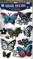 """Набор наклеек """"Бабочки"""" 6D, цветные, 7шт., фото 1"""