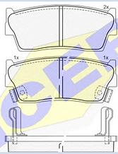 Тормозные колодки ICER 141002(REMSA 289.02)