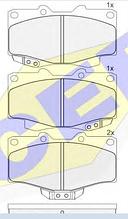 Тормозные колодки ICER 141007(REMSA 315.04)