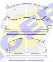 Тормозные колодки ICER 141057(REMSA 306.22)
