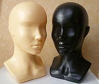 Голова-бюст женский, бежевый