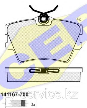 Тормозные колодки ICER 141167(REMSA 591.00)