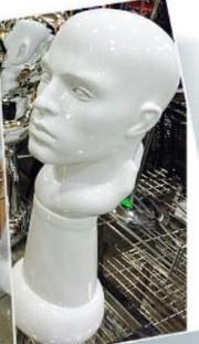 Голова-бюст мужской глянцевый, белый